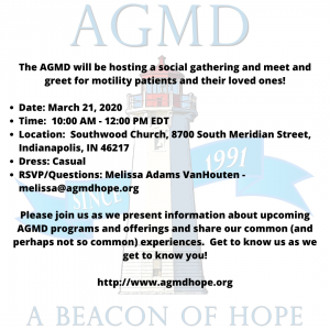 Association of Gastrointestinal Motility Disorders (AGMD) Meet & Greet @ Southwood Church